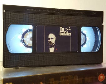 Retro VHS Lamp The Godfather Night Light Table Lamp, Horror Movie . Order any movie! Great personal gift. Man Cave. Office. Mothers Day