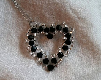 Black Heart pendant necklace / Valentine / gift
