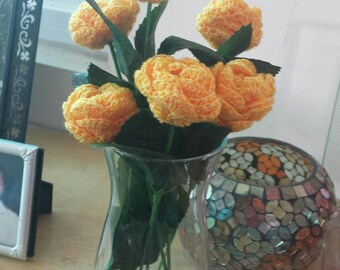 Hand-knit Mini Flower Bouquet