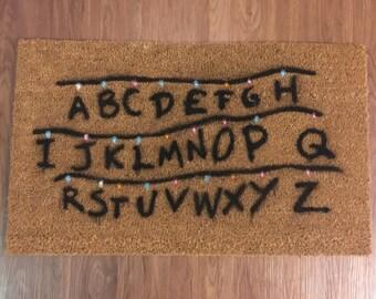 Christmas Lights (Stranger Things) Inspired Decorative Doormat