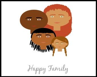 Custom Portrait, Family Tree Illustration, Custom Family Tree, Family Tree Alternative, Afro American, Mothers Day