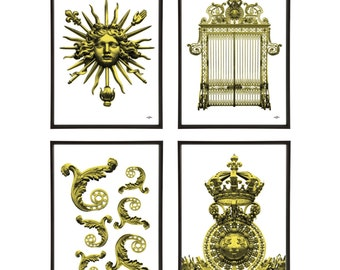 Versailles Palace Gates Group of 4 Pop Art Prints