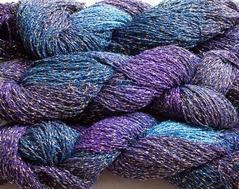 Sparkle,  fine cotton/metallic yarn, 300 yds - Night Sky