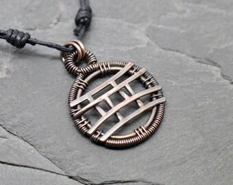 Gemini Gemini zodiac necklace wire wrapped copper