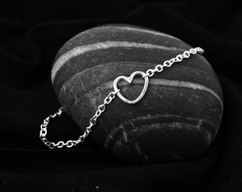 StErLiNg SiLvEr TiNy HeArT bRaCeLeT