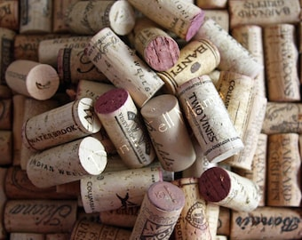 Lot of 50 100% All Natural Cork Used Wine Corks - NO Synthetic or Champagne Corks - Crafting - Coasters - Gifts - Wedding Favors - Trivets