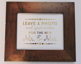 Gold Foil Sign for Wedding Photo Booth or Guest Book