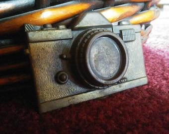 Vintage Solid Brass Camera Belt Buckle Photographer Gift