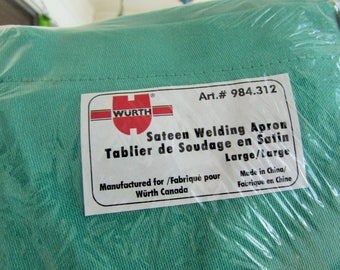 new sateen welding apron, large