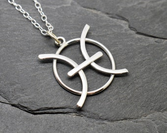 Pisces necklace sterling silver