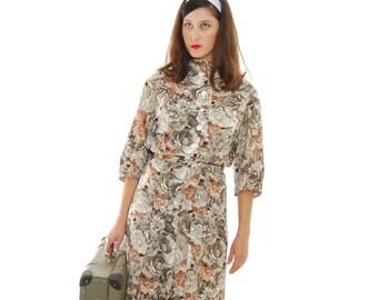 SALE 1950 Vintage Dress.50's Dress.Women's Dresses.Women 1950's.Size L-XL