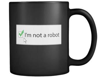 Coffee, Tea, Mug, Funny, IT, Tech, Computer, Internet, Coder, Internet Security, Code, Programmer, Robot, Coding, Web, On-line, Technology