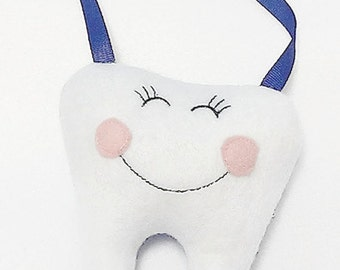 Boys Tooth fairy Pillow - Tooth keeper - tooth holder - tooth pouch - Felt tooth pillow with pocket - Hang on a doorknob or bed post  #4553