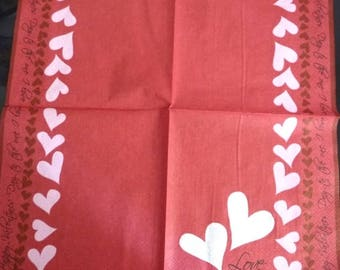 Hearts paper towel 3