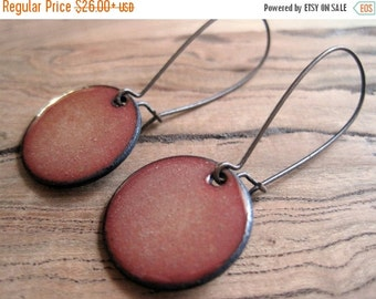 Golden Shimmer enamel earrings copper nickel free kidney earwire