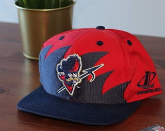 Vintage 90s Ottawa Rough Riders Sharktooth Logo Athletic 7 Snapback Hat Cap CFL
