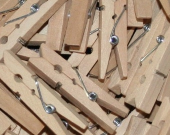 """Bulk 144 Natural Unfinished Small Clothes Pins 1-3/4"""""""