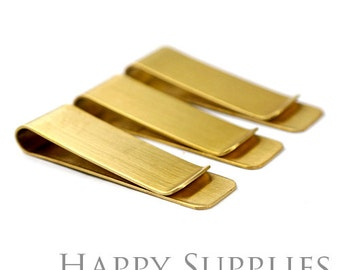 1pcs Gold Brass Money Clip - 2 Size to choose, Traveler's notebook Retro stainless steel tickets clips- wallet clip-accessory