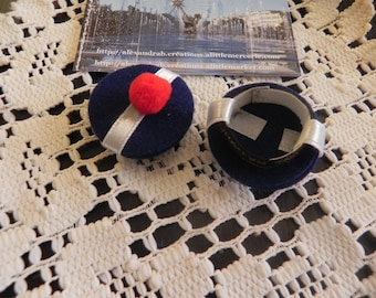 Set of 5 sailor doll hats
