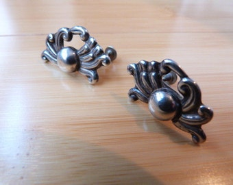 Vintage 1950's Sterling Silver Mexico Earrings