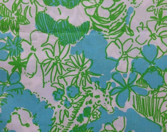 "limeade it's a zoo  poplin cotton fabric square 18""x18"" ~ lilly pulitzer"