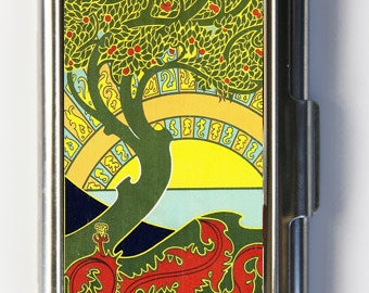 Art Nouveau Tree Business Card Holder Card Case