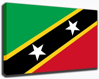 Saint Kitts & Nevis Canvas/Poster Wall Art Pin Up HD Gallery Wrap Room Decor Home Decor Wall Decor