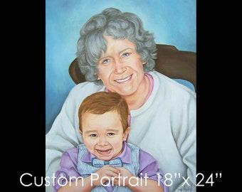 """18""""x24"""" Custom Portrait - Oil on Canvas by Maria Burd"""