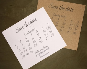 Pack of 10 Save the Dates