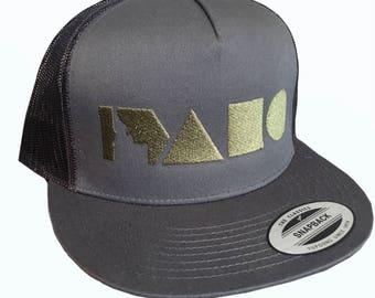Geo Idaho Hat- Mesh Back Trucker -BANANA ink