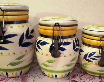 Vintage  Canister Set Three Piece