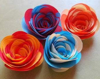 Paper rose dual color