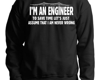 Gift For Engineer Sweatshirt I Am An Engineer Tacoma Narrows Bridge Fleece Sweater