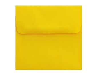 25 5.5 x 5.5 Sun Burst Yellow Envelopes - 5 1/2 x 5 1/2 for 5x5 cards and announcement   Bright color