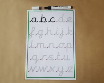 Tracing letters, pre cursive handwriting practice mat, lower case letters, writing letters, EYFS, KS1, teaching resource, learning, school