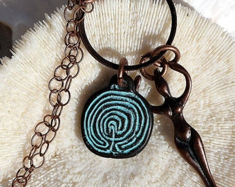 Spiral Goddess Necklace, Mykonos Casting,Jewelry
