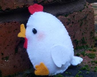 Kawaii Chicken Ornament - Easter chick ornament - felt Easter decoration - cute chicken - stuffed chicken plush - Easter tree oranments