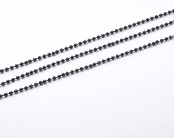 CH7 - 1 meter of 2.4 mm black ball chain