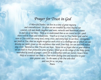 Prayer For Trust In God Custom Print - Can Be Personalized!