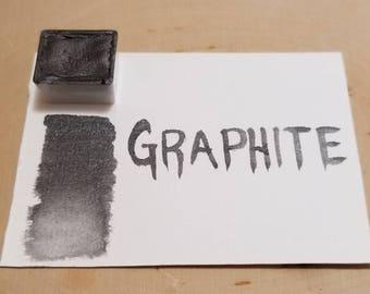 Graphite/watersoluble graphite half pan handmade watercolor paint