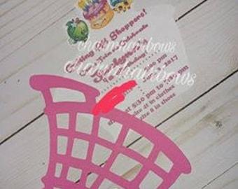 Shopkin invitations
