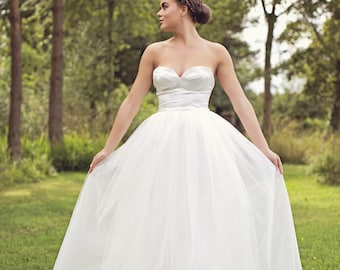 Grace - Silk Tulle Wedding Dress
