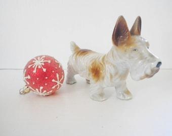 Vintage Dog Figurine West Highland Terrier Scottie Yorkie Porcelain 1940's