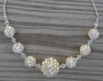 Disco Ball Crystal Necklace (N24)