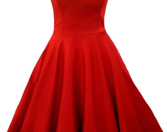 Elizabeth Stone, 'Vivien' 50s Rockabilly Swing Pin Up Full Circle Plus Size Bridesmaid Prom Dress