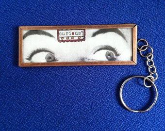 Curious about Art Keychain - microscope slide