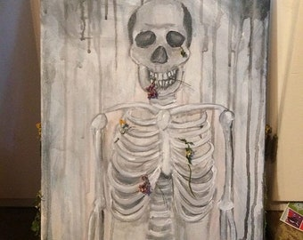 """Oil painting """"flowers for the dead"""""""