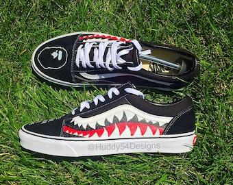 Shark Teeth Bape Vans