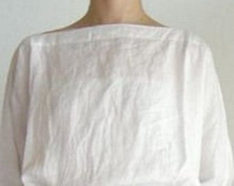 Handmade linen blouse, AMANDA, shift blouse, boat neck blouse,in many different colours  ready to be shipped.
