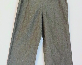 Vintage 1940s style woman trousers wartime grey cotton small/medium 26/27 W